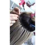 manutenção de alongamento de cabelo