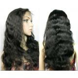 peruca full lace ondulada